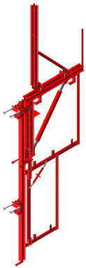 AC50 Automatic Climbing System With Hydraulic Power 5 Tons Load Capacity
