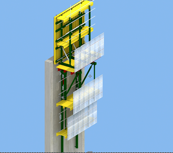 Crane Jump Form Formwork System Simple Moving Any Shape / Height Available