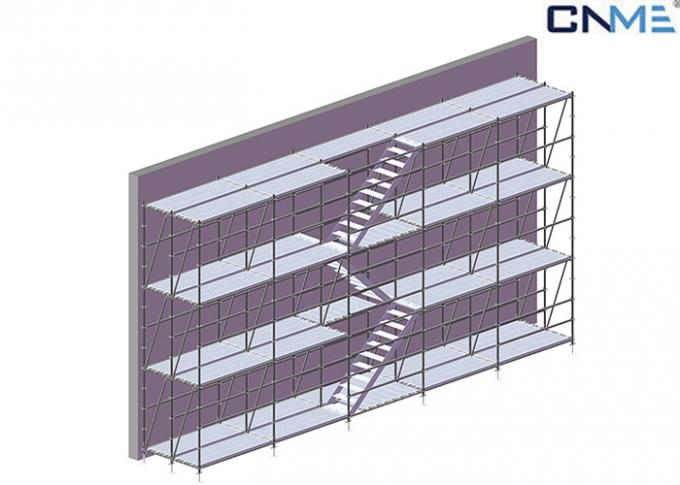 Aluminium Stair Type Concrete Shoring Systems , Lightweight Scaffolding Systems