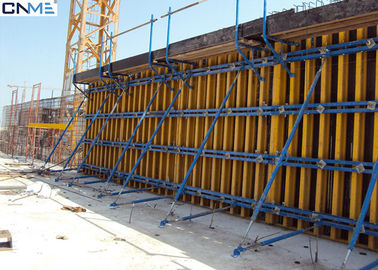 China Eco Friendly Wall Formwork System Push And Pull Props Supporing Wall Form Panel supplier