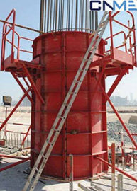 China High Stiffness Circular Column Formwork Systems Channel Steel Material Red Color supplier