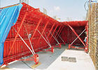 Professional Red Color Tunnel Formwork System Reusable OEM / ODM Available