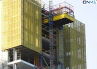 Construction Loading Platforms Suspended , Loading Lift Platform Yellow Color