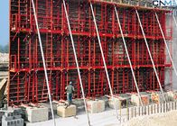 China Concrete Wall Formwork System , Steel Wall Formwork For Straight Wall factory