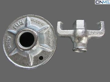 Steel Galvanized Construction Scaffolds Forged 17mm Formwork Nut Without Plate