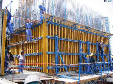 China Straight Concrete Wall H20 Timber Beam Wall Formwork System One 20ft container factory