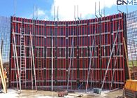 Concrete Wall Formwork System , Steel Wall Formwork For Straight Wall