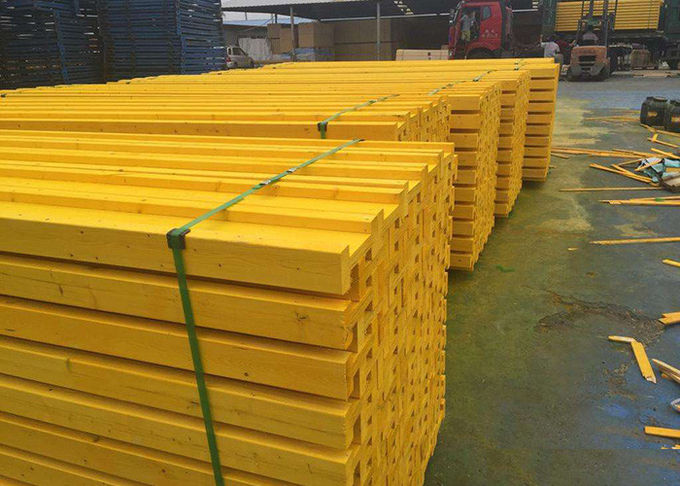 Waterproof Painting H20 Timber Beam , Timber Formwork System High Load Capacity