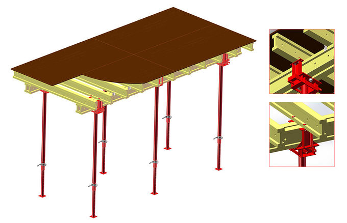 Customized Slab Formwork Systems , Beam Slab System For Concrete Construciton
