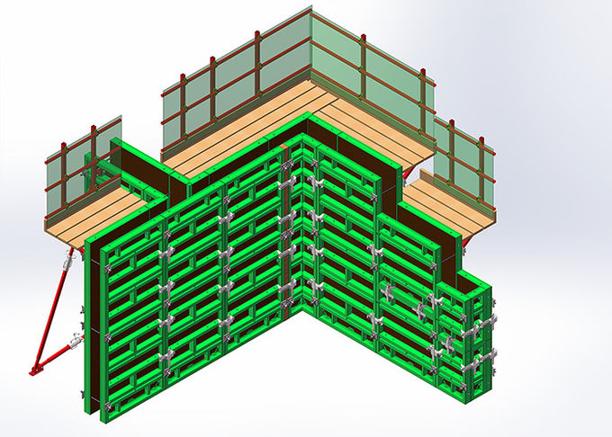 Reusable Plywood Concrete Wall Forms , Metal Forms For Concrete Walls
