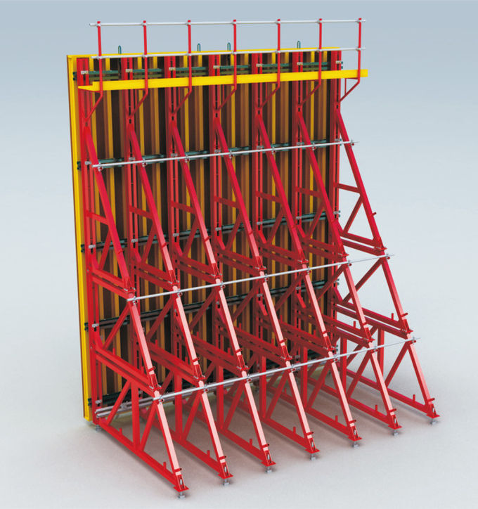 8.0m Wall Shuttering System , Single Sided Wall Formwork Without Tie Rod System